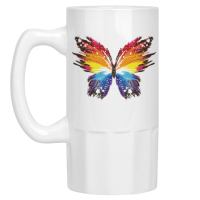 Пивная кружка Бабочка