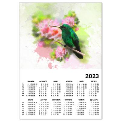 Календарь Колибри в цветах