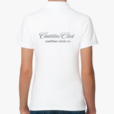Женская рубашка поло, белая