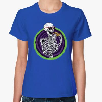 Женская футболка Pizza Skeleton