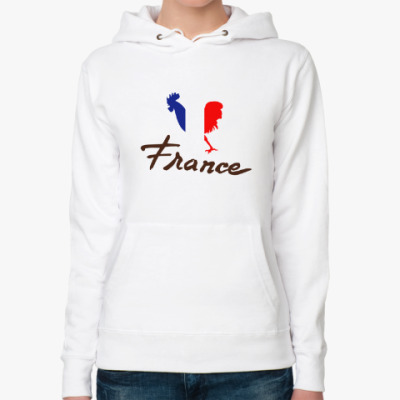 Женская толстовка худи Национальный символ Франции