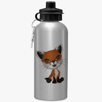 Спортивная бутылка/фляжка Рыжий котенок
