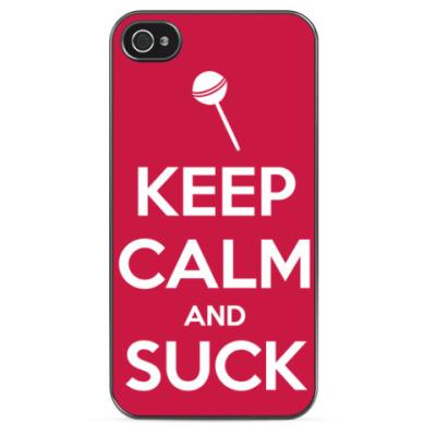 Чехол для iPhone KEEP CALM AND SUCK