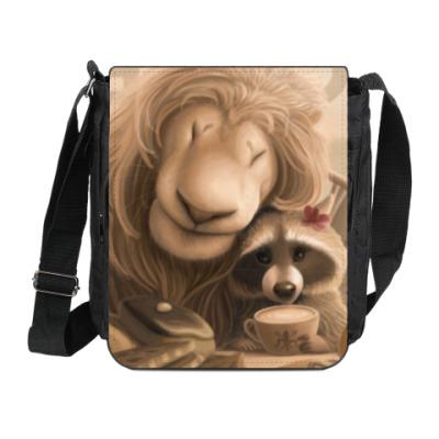 Сумка на плечо (мини-планшет) Лев и Енот во Флоренции