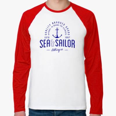 Футболка реглан с длинным рукавом Sea and sailor, якорь