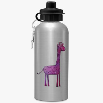 Спортивная бутылка/фляжка Космический Жираф