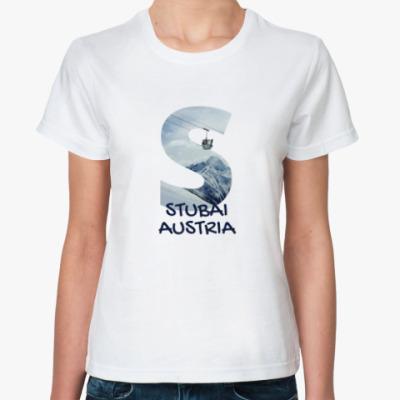 Классическая футболка Горы, Штубай, Австрия