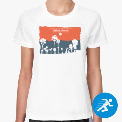Женская спортивная футболка Город в Калифрнии (USA)