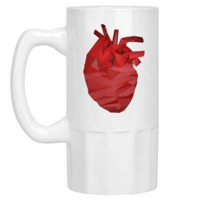 Пивная кружка Сердце 3D