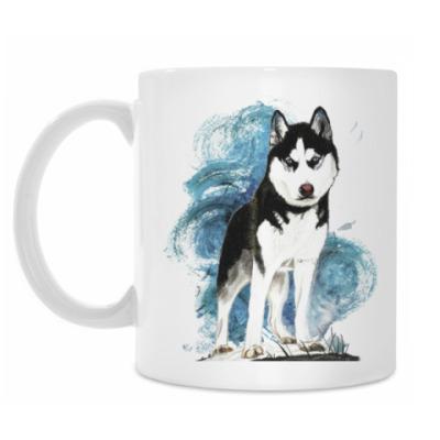 Кружка Собака хаски. Siberian husky