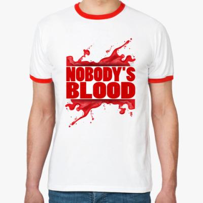 Футболка Ringer-T Nobody's Blood