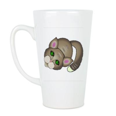 Чашка Латте Грустный котик