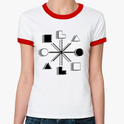 Женская футболка Ringer-T   Наполеон, СЭЭ