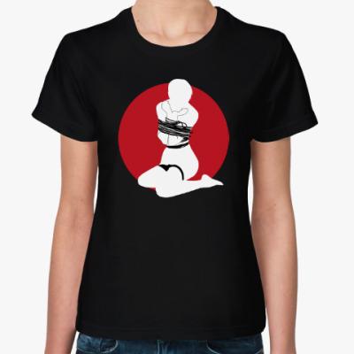 Женская футболка Шибари силуэт связанной девушки 4b от M&K ART