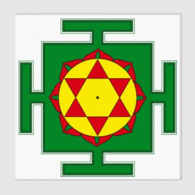 Холст Кришна-гопал-янтра для медитаций