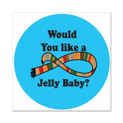 Наклейка (стикер) Would you like a Jelly Baby?