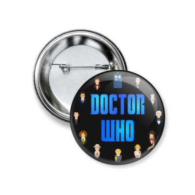 Значок 37мм Доктор Кто