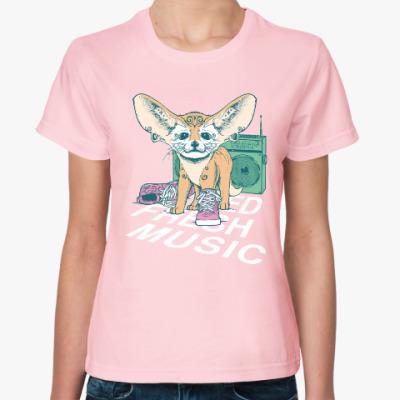 Женская футболка I need fresh music, music, style