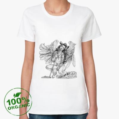 Женская футболка из органик-хлопка Singing Angel