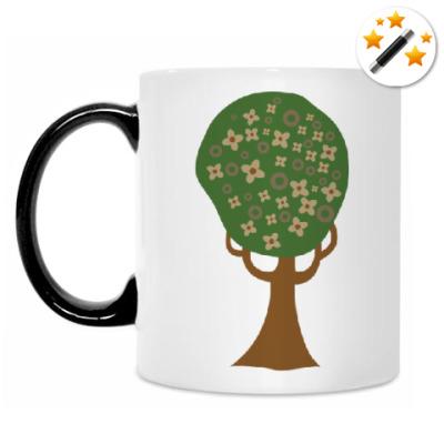 Кружка-хамелеон Цветущее дерево