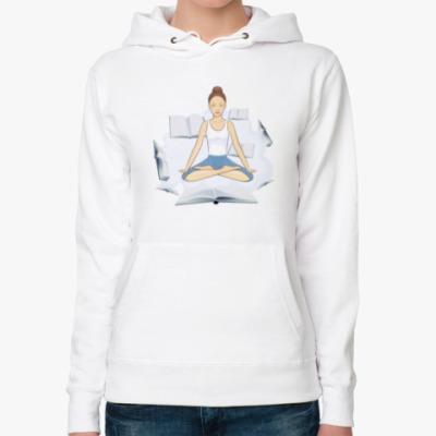 Женская толстовка худи Медитация