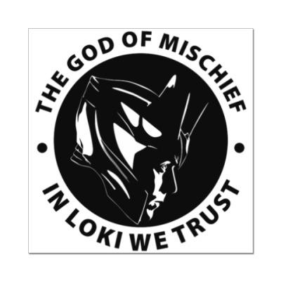 Наклейка (стикер) In Loki we trust