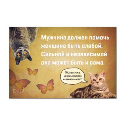 Наклейка (стикер) для независимой женщины