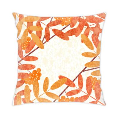 Подушка Осенняя рябина
