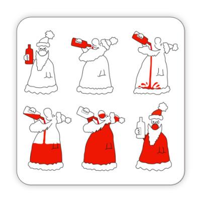 Костер (подставка под кружку) Как стать дедом морозом