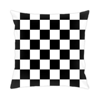 Подушка Черно-белая клетка