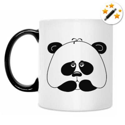 Кружка-хамелеон Грустная панда