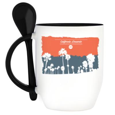 Кружка с ложкой Город в Калифорнии (USA)