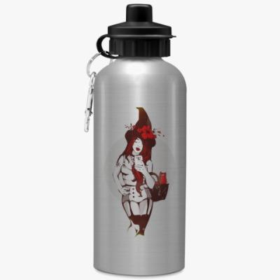 Спортивная бутылка/фляжка Ведьма