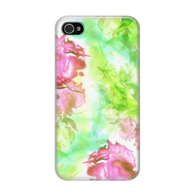 Чехол для iPhone 4/4s Цветочный всплеск
