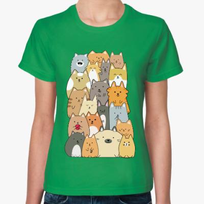 Женская футболка Смешные коты (funny cats)