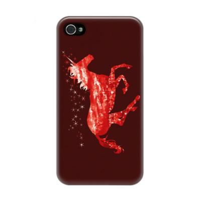 Чехол для iPhone 4/4s Рубиновый Единорог