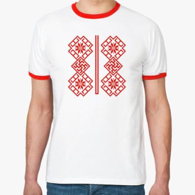 Футболка Ringer-T Русский орнамент