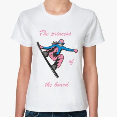 Классическая футболка Сноубордистка