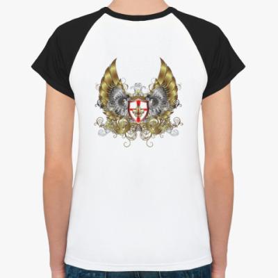 Женская футболка реглан fleur de lis gold
