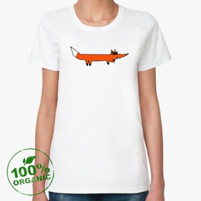 Женская футболка из органик-хлопка крутой Лис