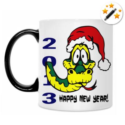 Кружка-хамелеон Happy new year 2013