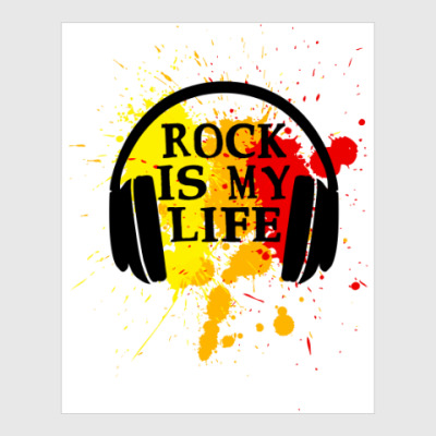 Постер Rock is my life