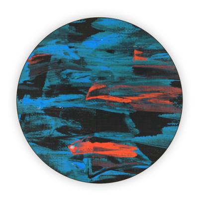 Костер (подставка под кружку) Темная краска