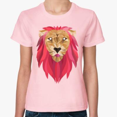 Женская футболка Лев / Lion