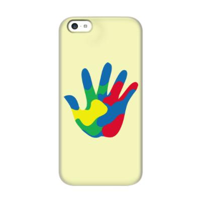 Чехол для iPhone 5c Отпечаток Руки