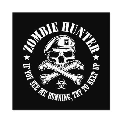 Наклейка (стикер) Охотник на зомби