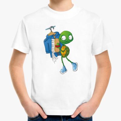 Детская футболка Чистюля Черепашонок с щеткой