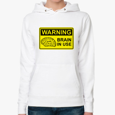 Женская толстовка худи Brain in use