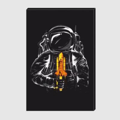 Холст Космонавт с леденцом