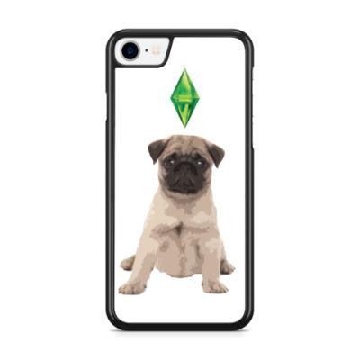 Чехол для iPhone Мопс, симс, sims